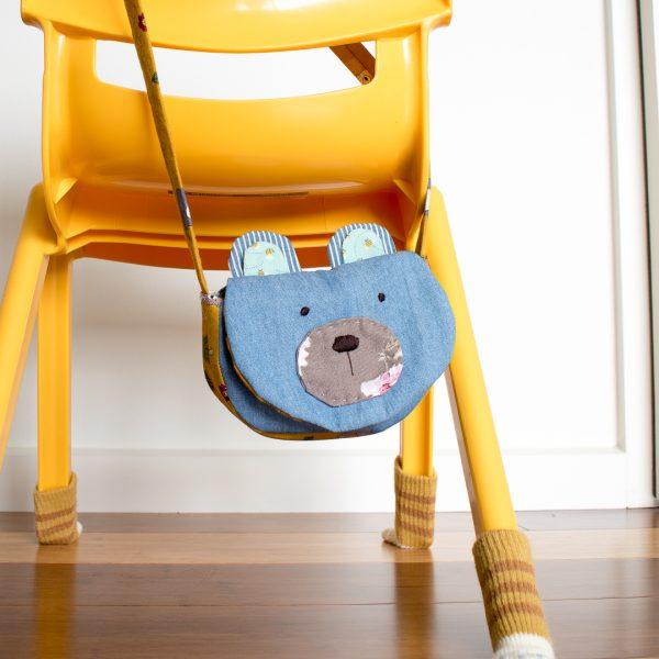 Bear Sling Bag on Chair